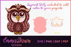 FELICITY THE BABY OWL SVG MANDALA / ZENTANGLE DESIGN Product Image 2