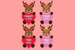 Valentine Heart Bundle Clipart, Conversation Hearts, PNG Product Image 2
