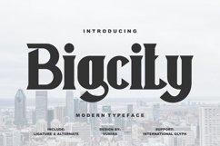 Bigcity   Modern Typeface Font Product Image 1