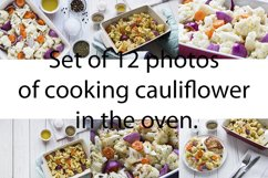 Cooking cauliflower bake in the oven. Raw and cooked. Product Image 1