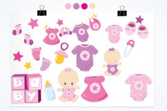 Baby Girl graphics and illustrations Product Image 2
