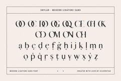 skylar - modern ligature sans font Product Image 5