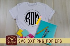 Back To School Pencil Monogram SVG Product Image 1