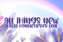 All Things New - A Bold Handlettered Font Product Image 1