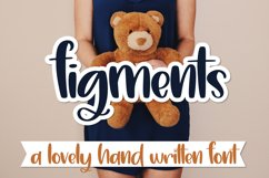 Figments - A Lovely Hand Written Font Product Image 1