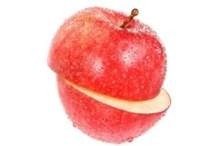 Stock Photo - Ripe cut apple on a white background. Product Image 1