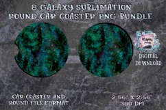 Galaxy  Sublimation  Car Coaster  Round Design Product Image 3
