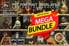 MEGA BUNDLE Royal Pet Portrait templates Digital pet Product Image 1