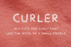 Curler handwritten font Product Image 2