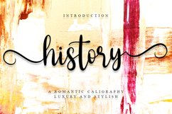 History - Romantic Calligraphy Font Product Image 1