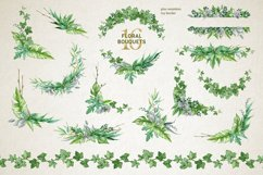 Midori Green Leaf Watercolor Set, Hand-Painted Collection Product Image 4