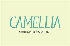Web Font Camellia - a handwritten serif font Product Image 1