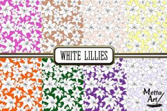 White Lillies - 16 Digital Papers/Backgrounds Product Image 3