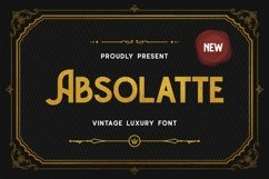 Absolatte - Vintage Luxury Font Product Image 1