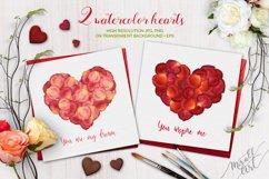 Floral watercolor rose petals Product Image 5