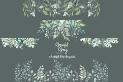 Watercolor Greenery 54 Piece Bundle in Silver Sage and Gray Product Image 8