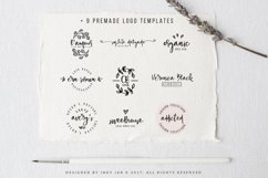 Gingerbread Font Duo 9 Premade Logo templates Product Image 4