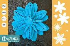 Paper Flower Template Bundle | Paper Cutting Bundle SVG Product Image 9