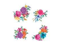 Watercolor Fiesta Floral Clipart  Product Image 3