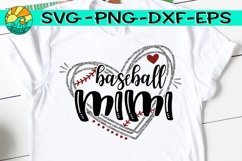 Baseball Mimi - Heart - SVG - DXF - EPS - PNG Product Image 1