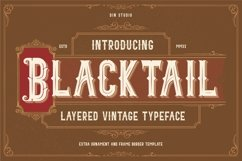 Blacktail - Layered Vintage Font Product Image 1