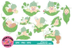 My cute little plant babies clipart, Babies Clipart Product Image 1