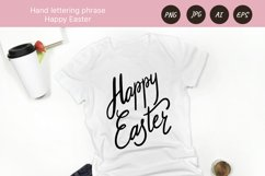 Happy Easter phrase, hand drawn lettering PNG Sublimation Product Image 3