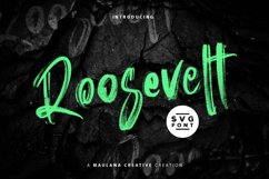 Roosevelt SVG Brush Font Product Image 1