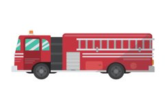Fire Truck Clipart Product Image 1