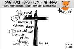Easter Resurrection Titus 3.5 SVG Cut File Product Image 1