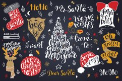 Merry Christmas quotes Lettering set Product Image 2