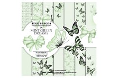Mint Green Dreams Baby Paper Pack Fashion Illustration Product Image 1