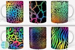 Animal Print Rainbow Sublimation Mug Designs - Coffee Cup Product Image 1