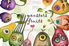Watercolor collection Eye fruits Product Image 1