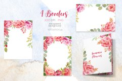 Watercolor Summer Flowers Clipart Product Image 5