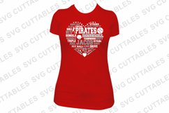 Baseball SVG   Baseball Heart Subway Art   Shirt Design Product Image 3