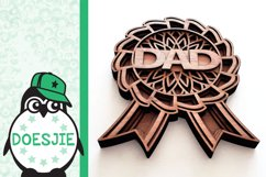 Best dad award fathers day layered mandala svg 3D 5 layers Product Image 4