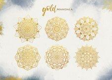 Watercolor & Gold Hand Drawn Mandala Product Image 5
