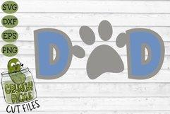 Dog Dad / Cat Dad Paw Print SVG File Product Image 2