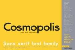 Cosmopolis - Sans serif font family Product Image 1