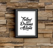 Follow your Dreams with Actions Product Image 2