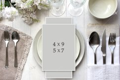Light table Card Mockup. PSD smart Product Image 2