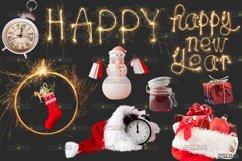 Christmas overlay & Sparkler overlay, Photoshop overlay Product Image 3