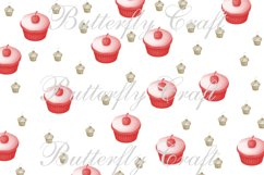 Cupcake Digital Papers, Tea Time Papers, Muffins digital Product Image 3