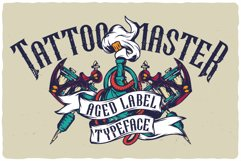 Tattoo Master. Font and graphics. Product Image 5