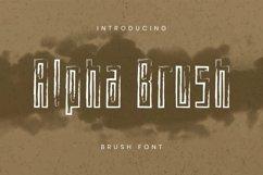 Web Font Alpha Brush Font Product Image 1