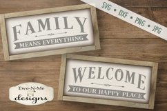 Family Means Everything - Welcome to our Happy Place SVG DXF Product Image 1