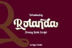 Rolanda - Strong Bold Script // Web Font Product Image 3