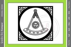 Masonic Past Master SVG Bundle, Five Framing Options Product Image 5
