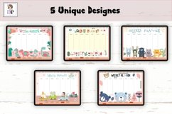 Fun Undated Weekly Digital Planner PDF CLICKABLE links v1 Product Image 3